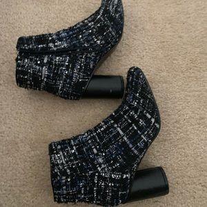 Anthropologie. Vanessa way tweed heeled booties